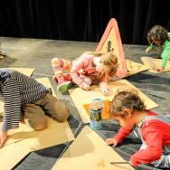 THE BIG DRAW -future city workshop @ CCA , kids hard at work