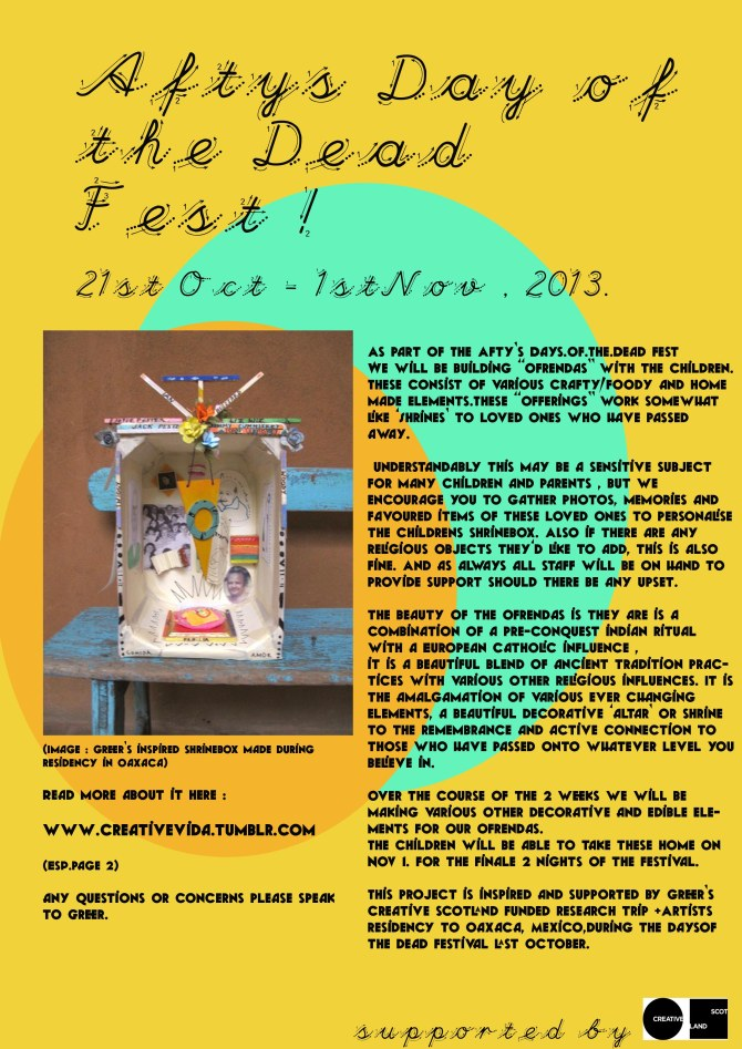 Afty's Day Of The Dead Fest  Flyer , Ofrenda Info
