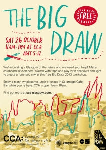 CCA The Big Draw A3 poster